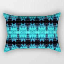 Turquoise Blue Black Diamond Gothic Pattern Rectangular Pillow