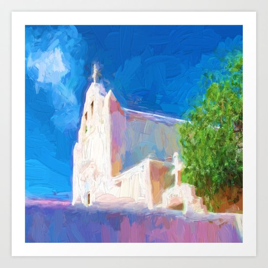 Adobe Church Art Print