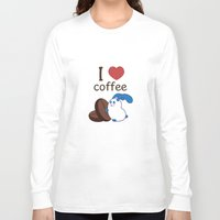 coffe Long Sleeve T-shirts featuring Ernest | Love coffe by Hisame Artwork