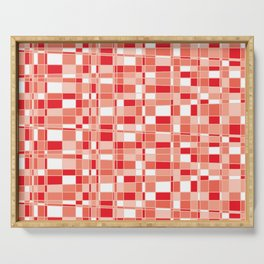 Mod Gingham - Red Serving Tray