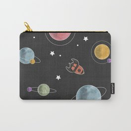 retro space pattern Carry-All Pouch