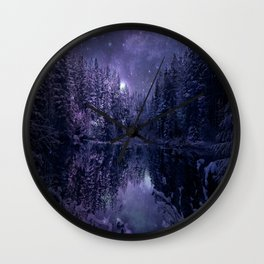 A Cold Winter's Night Wall Clock