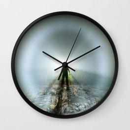 Shadow in Fog Wall Clock