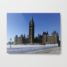 Parliament - Winter Metal Print