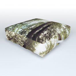 Green Forest Sky Trees Outdoor Floor Cushion