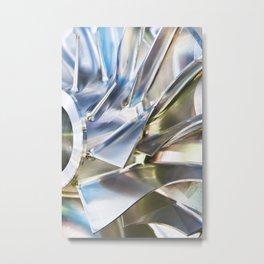 Blades of metal impeller Metal Print