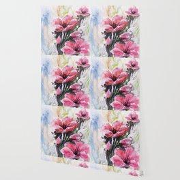 Berry Pink Flowers Wallpaper