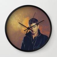 dean winchester Wall Clocks featuring Dean Winchester - Supernatural by KanaHyde