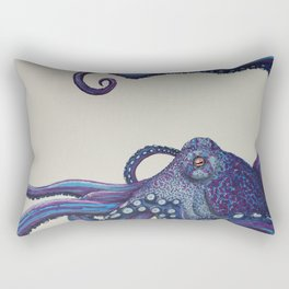 Purple Octo Rectangular Pillow