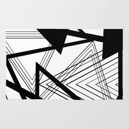 Black and White Abstract Geometric Part II Rug