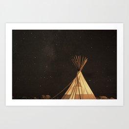 El Cosmico, Marfa Texas. Art Print