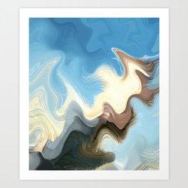 Hair Puzzle: digital abstract art Art Print