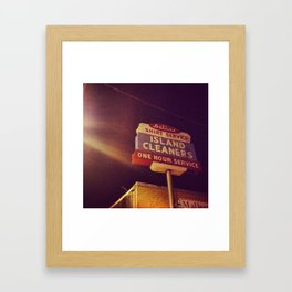 Island Cleaners Framed Art Print