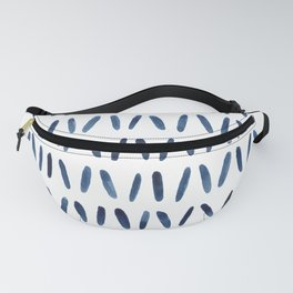 Strokes Pattern | Indigo Watercolor Painting Fanny Pack