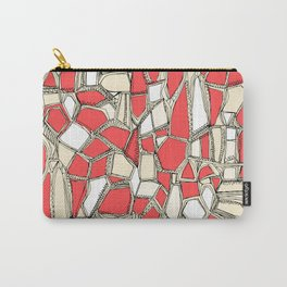 BROKEN POP coral Carry-All Pouch