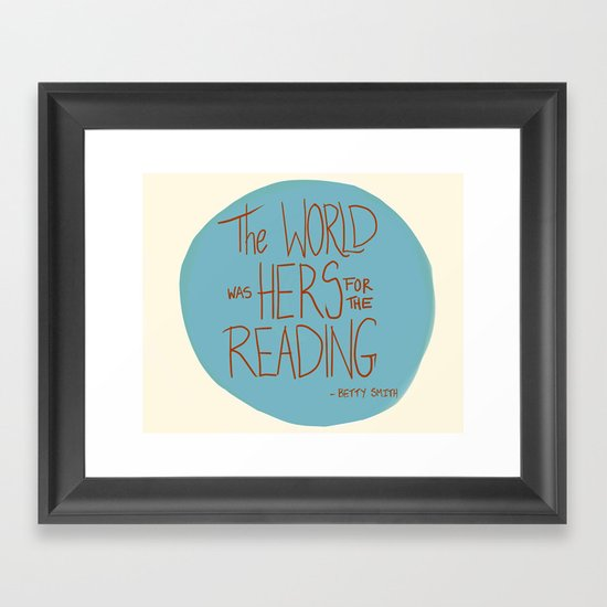 The World was Hers for the Reading Framed Art Print