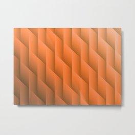 Gradient Orange Diamonds Geometric Shapes Metal Print