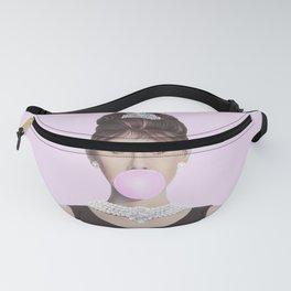 Audrey Hepburn blowing Pink Bubblegum Fanny Pack