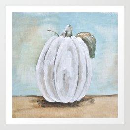 Tall white pumpkin Art Print