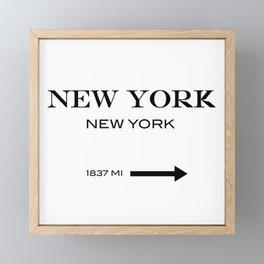 New york Framed Mini Art Print