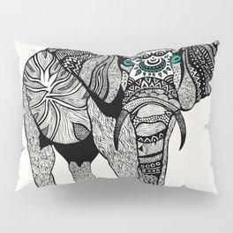Tribal Elephant Black and White Version Pillow Sham