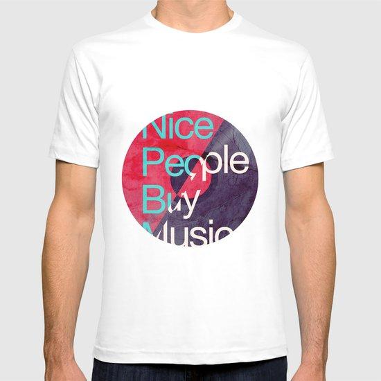 Nice People Buy Music T-shirt