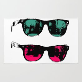 Cool Sunglasses Photo Illustration Venice California Rug