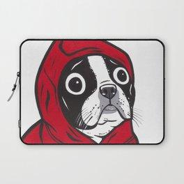 Red Hoodie Boston Terrier Laptop Sleeve