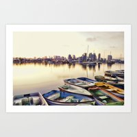 san diego Art Prints featuring San Diego by LMFK