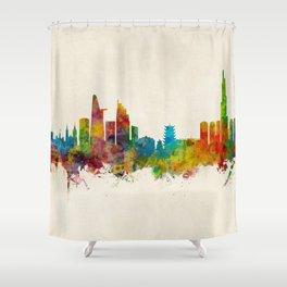 Ho Chi Minh City Saigon Vietnam Skyline Shower Curtain