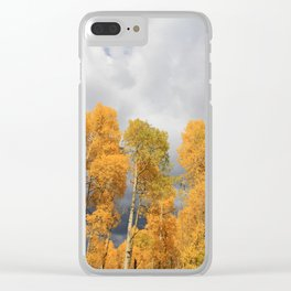Autumn Storm Clear iPhone Case