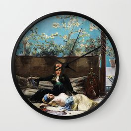 Oriental Lovers Wall Clock