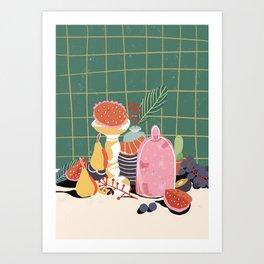 Rainbow Still Life Art Print