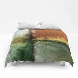 Focal Point Earth Tone Digital Painting Comforters
