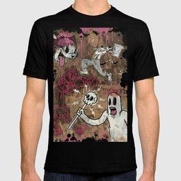 THE CARTOON CAT PINK T-shirt