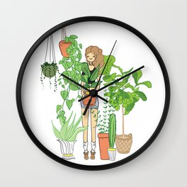 All I want for Christmas is a new plant or twenty! Wall Clock