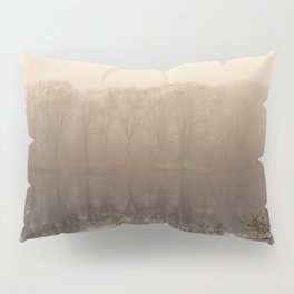 Foggy springtime Reflections Pillow Sham
