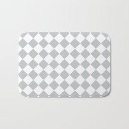 Light Grey Diamond Pattern Bath Mat