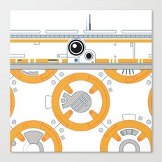 Minimal BB8 Droid Canvas Print
