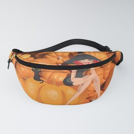 Halloween Witch and Pumpkins Fanny Pack