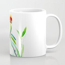 Sun Conure Parakeet, tropical yellow green bird decor Coffee Mug