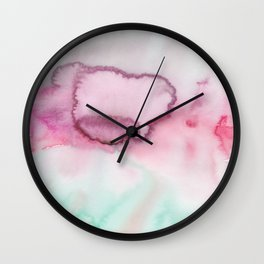 13   | Abstract Minimal Watercolor Painting | 191223 Wall Clock