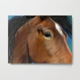 Horse Close Up Metal Print