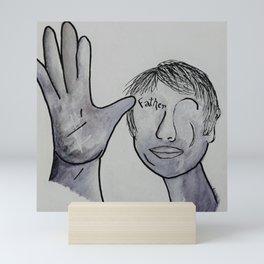 ASL Father in Denim Colors Mini Art Print
