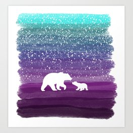 Bears from the Purple Dream Art Print