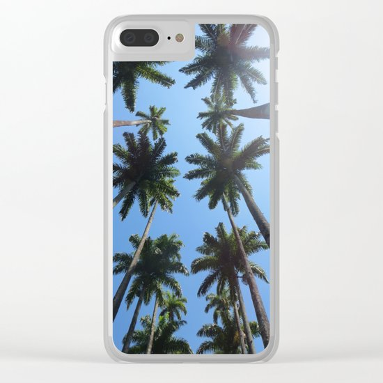 California Palm Trees Clear iPhone Case