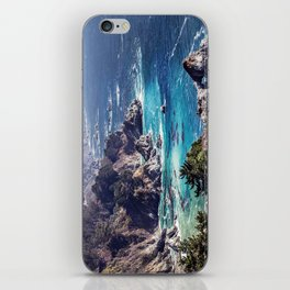 Coastline sea iPhone Skin