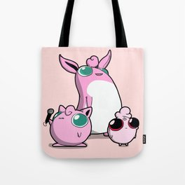 Pokémon - Number 39, 40 and that little fellow! Tote Bag