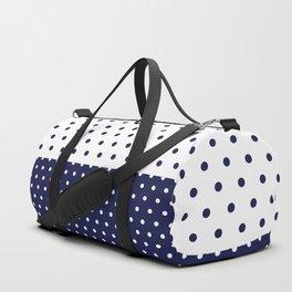 Navy dots Duffle Bag
