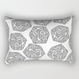 d20 - black and white icosahedron - automatic art pattern and print Rectangular Pillow